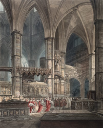 Procession of the Knights of the Most Honourable Order of the Bath at Westminster Abbey
